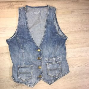 Womens Gap Blue Jean Vest size small